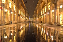 Turin by snow (VauGio) Tags: torino turin neve snow leicax1 leica notte notturno night city città viaroma riflettere riflesso riflessi reflection