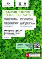 Campus Poétique 2019 (EHUkultura) Tags: ehukultura ehu upvehu