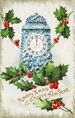 Vintage Christmas card design (Free Public Domain Illustrations by rawpixel) Tags: pdproject20 pdproject20batch44 pdproject22 por vector 12oclock pdproject20batch44x antique art arts artwork blue branch card celebration christmas christmascard clock concept countdown december design drawing festive floral flower greeting happy happynewyear historic historical history holiday holly hour illustration merry merrychristmas midnight name newyear painting poster print prints publicdomain retro season seasonal style tradition traditional vintage winter wish xmas
