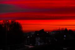 Allô...les pompiers? (kiareimages1) Tags: leverdusoleil aurore aube feux charleroi marcinelle belgium landscapes red sky winter