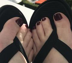 Her sexy beautiful feet (joe_foote) Tags: toes feet foot strappysandals sandals pedi pedicure flipflop footfetish