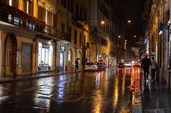 কথা ছিল হেঁটে যাব ছায়াপথ (eyenamic) Tags: rain rainy nightphotography roads reflection lights citylights city cityscape rome italy buildings nikon d5100