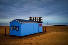 Beach Patrol (Chris Hamilton Photography) Tags: clacton urban blue coast coastal hut sand sea beach photography colour