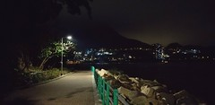 Night jogging at the beach (yiwa) Tags: night beach hongkong coast