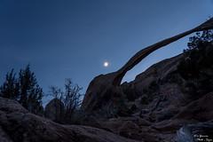 Moon above Landscape Arch (yarnim) Tags: landscapearch landscape longexposure nightshot nightphotography lowlight sky moon arches archesnationalpark nationalpark moab utah a7m3 a7iii ilce7m3 sonya7 24105 sel24105g sony