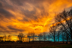 Good-bye to 2018! (tquist24) Tags: goshen hdr indiana nikond5300 clouds evening sky sunset tree trees winter