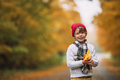 My bright spot (Elizabeth Sallee Bauer) Tags: nature active autumn beautyinnature boy child childhood cozy destination fall fallleaves fun gold green hat hiking journey kid leaves nonurbanscene outdoors outside playing redhat road trail trees walking yellow youth