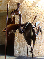 Deadly Flamingo (knightbefore_99) Tags: awesome great best deadly flamingo sculpture art statue cool oiseau metal spear guard big beak fantastic mexican mexico isla mujeres