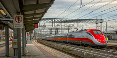Frecciarossa Train approaching Tiburtino Train Station Rome Italy 2018 (John Hoadley) Tags: tiburtino train station rome italy 2018 september canon 7dmarkii 24105 f10 iso100