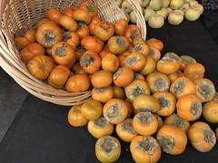 Fuyu persimmons (TomChatt) Tags: food farmersmarket