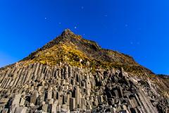 Basalt columns at Vik (hazelhouliston) Tags: iceland vik basalt volcanic rock sky blue geology