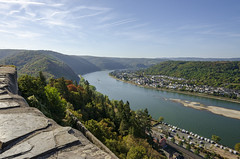 View of Rhine at Marksburg Castle (rschnaible) Tags: marksburg castle germany europe sightseeing view landscape rhine river water outdoor unesco