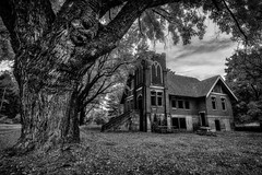 Elberton United Brethren Church B+W (PNW-Photography) Tags: elberton palouse pullman washington whitmancounty whitman church abandoned rusty dusty old urbex explored explore found roadtrip