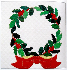 Botanical Wreaths (M.P.N.texan) Tags: book wreath christmas applique quilt quilted