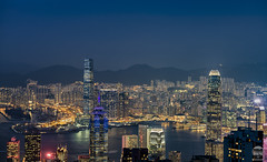 Hong Kong twilight (kenneth chin) Tags: kowloonwest thecenter 中環中心 山顶广场 太平山 internationalfinancecentre victoriaharbour thepeak skyterrace428 nikon d850 nikkor 2470f28g hongkong yahoo google attraction twilight cityscape city asia sky100 towering building
