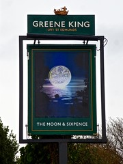Clevedon, Somerset (cherington) Tags: themoonsixpence burystedmunds clevedon somerset england unitedkingdom pictorialsigns pubsigns traditionalpubsigns englishpubsigns socialhistory innsigns