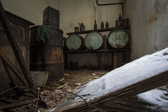Toxic! (katka.havlikova) Tags: abandoned lost derelict ruin decay urbex urbanexploration toxic industry factory sawmill saw winter germany německo opuštěná továrna pila