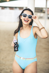 IMG_17929 (saver_ag) Tags: people portrait female shades outdoor swimsuit blue smile postedinstagram posted500px posteddeviant
