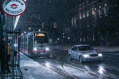 IMG_5820-11 (Goldenwaters) Tags: streetphotography lensculture subjective capturestreets canon50d 50d vienna wien citystreets winter snow snowing white winterweather europe trains tram tramstation trainstation trasport publictransport departure