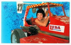 Female Driver 1 in 1988 (pepandtim) Tags: postcard old early nostalgia nostalgic female driver delilah lemon 17051988 1988 23fem65 next mrs goss just seventeen carnaby street london thomas geoffrey dalwood camberwell anything for you gloria estefan