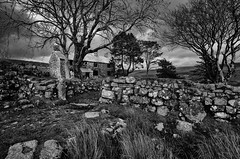 Ditsworthy Warren (Frosty__Seafire) Tags: ditswothy warren manor house dartmoor grade ii listed building sheepstor moor moorland landscape sun burst d7000 1020 sigma high contrast black white old abandoned derelict war horse location film