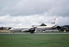 OY-KTB. SAS Douglas DC-8-33 -Explored (Ayronautica) Tags: oyktb douglasdc833 scandinavianairlinesystem sas airliner ayronautica aviation scanned prestwick egpk pik