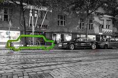 Think the nature (Janne Räkköläinen) Tags: finland suomi helsinki green cars greenpeace greener nature value life thinkthenature 2018 july visiting amateur amateurphotography amateurphotographing canon canon6d canonphotography canonphotographing ef24105l urban city cityview citylife nights evening streets streetphotographing streetview streetlife blackwhite bnw bw shape art artistic parking audi bulevardi nopeople
