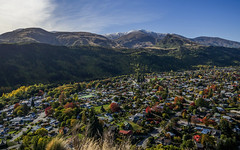 Arrowtown Vista (RP Major) Tags: arrowtown new zealand nz 1240mmf28pro landscape mountains town sky snow trees forest