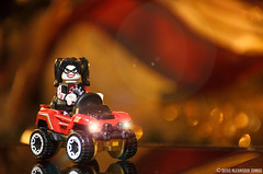 Harley Quinn On Hot Wheels (VISION TORRES) Tags: minifigure lele toys hotwheels mattel bogzilla hwrideons toyphotography dc dccomics harleyquinn