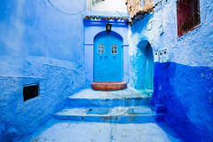 Welcome to the Blue Pearl of Morocco: Chefchaouen. (cookiesound) Tags: morocco travel africa photography travelphotography travelphotographer inspiration nisamaier ullimaier cookiesound canon chefchaouen bluepearl bluecity bluewall blue colours city door bluedoor
