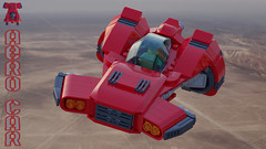 Aero-Car (David Roberts 01341) Tags: lego ldd mecabricks skycar flyingmachine minifigure render red toy