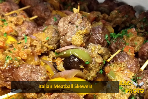 """Italian meatball skewers • <a style=""""font-size:0.8em;"""" href=""""http://www.flickr.com/photos/159796538@N03/45977152021/"""" target=""""_blank"""">View on Flickr</a>"""