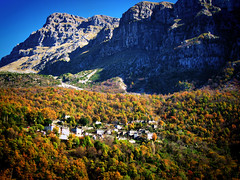 The lovely villages of Epirus (jimiliop) Tags: epirus greece village mountains mountaintops rocks forest colors green orange yellow architecture picturesque nature beauty
