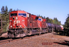 CP 9118-9108, 436 e, Windy Lake, ONT. 9-18-2008 (jackdk) Tags: train railroad railway cp cpr canadianpacific canada ontario emd emdsd80mac emdsd80 sd80 sd80mac locomotive cprail windylake windylakeontario 436 cp436 freighttrain freight