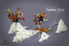 "Skypirates' Pumpkin Seeds (Markus ""madstopper78"" Ronge) Tags: moc legosteampunk toyphotography legopotsdam fullsteamlego steampunk skypirates skybound airship legoninjago ninjago steampunklego"
