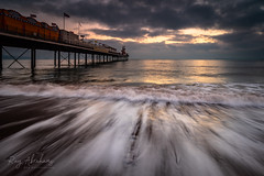 Morning Rush (Explore 04/02/2019) (RTA Photography) Tags: paigntonpier paignton devon torbay southdevon sea bay pier beach sky morning dawn nikon d750 nikkor1835 light water wave tide nature outdoors clouds horizon fullframe rtaphotography explore