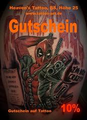 Tattoo Gutschein (Stefan Beckhusen) Tags: tattoo gutschein braunschweig gifhorn wolfsburg wolfenbüttel celle peine nidersachsen germany harzregion deadpool