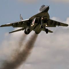 Polish Mig 29 Arrivals Nato Sumit Brize Norton (Base - Loiter) Tags: polish mig 29 arrivals nato sumit brize norton