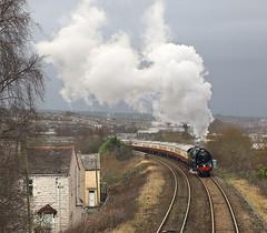 Accrington 2 (goremirebob) Tags: accrington trains railways steam steamexcursion railtour britannia britanniaclasspacific saphostrains locomotiveservicesltd winter rain