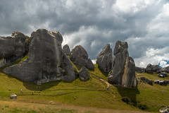 Castle Hill (Hanna Tor) Tags: travel nature landscape trip tourism hannator newzealand island hill stone rocks limestone mountains dramatic scenic scenery sony view sky clouds places valley grass castle castlehill