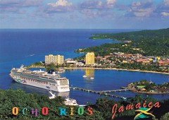 Ocho Rios / Jamaica (Alea's Postcardworld) Tags: ochorios jamaica saintann cruiseship northcoast coast blauerhimmel bay ocean post card postcard sammlung collection ansichtskarte postkartensammlung urlaub outdoor schrift font vacation urlaubsgrüse meer wasser himmel ozean bucht alea♥ blueheaven