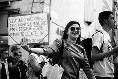 La marche du siècle - Arles - (Loïc.Kervignac) Tags: pentax lamarchedusiècle manifestation manif arles blackandwhite portrait portraitderue noiretblanc reportage