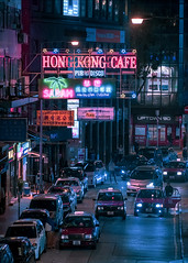 Wan Chai, HK (mikemikecat) Tags: wan chai old buildings lifestyles life colors city building exterior built structure architecture street transportation mode motor vehicle car real people road outdoors mikemikecat neon lights sign
