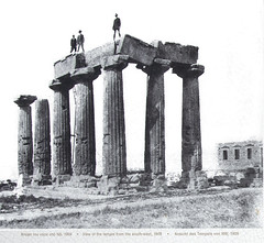 Temple View from SW, 1909 (Mr. History) Tags: templeofapollo temple corinth greece greek ruins ancient doric