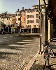 """""""Piazza Delle Erbe"""" (Mantova). (giannipaoloziliani) Tags: lightandshadow italia italy downtown facades view historicalcenter architecture flickr iphone iphonephotography hdr colors lombardia piazzadelleerbe place piazza mantua mantova"""