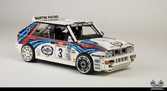 Lancia Delta HF Integrale EVO - 1992 Tour de Corse (1:11 in Lego) (bricksonwheels) Tags: lego lancia delta integrale bricksonwheels scale model martini jolly club didier auriol 1992 tour de corse