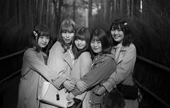 Kyoto Street (Andrew Allan Jpn) Tags: street streetportrait streetfashion streetphotography stranger japan japanesegirl japanesegirls japanesewoman kyoto fashion cute sweet hug group smile smiles matching happy cheerful