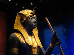 Guarding the Ka of the King. (Vicki LW) Tags: tut 7dos gold shoot anything saturday tutankhamun wooden guardian statue 6ws
