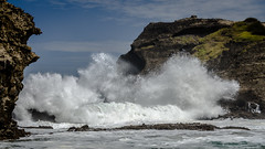 Tasman forces (Stefan Marks) Tags: tasmansea thegap cloud crashing gap nature ocean outdoor rock sky wave aucklandwaitakere northisland newzealand nzl