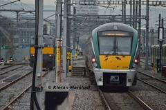 22056+22026 pass Contarf Road, 11/1/19 (hurricanemk1c) Tags: railways railway train trains irish rail irishrail iarnród éireann iarnródéireann 2018 22000 rotem icr rok 3pce clontarfroad 22056 0940droghedapearse